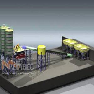 Модульный бетонный завод МВ-120
