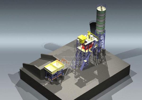 Модульный бетонный завод МВ-30