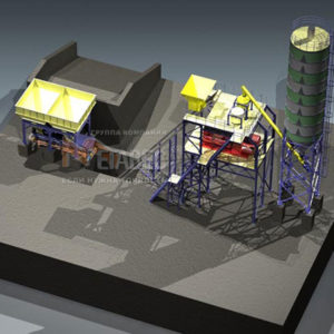Модульный бетонный завод МВ-40-1Ц2И
