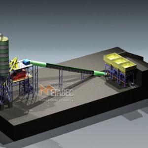 Модульный бетонный завод МВ-60-3И