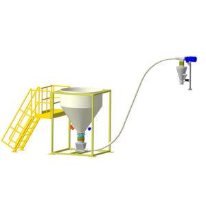 Агрегат подачи целлюлозной добавки для ЩМА